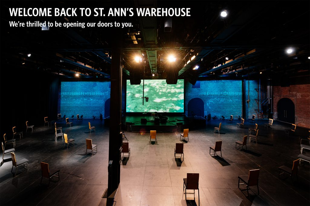 St. Ann's Warehouse with socially distanced seating.